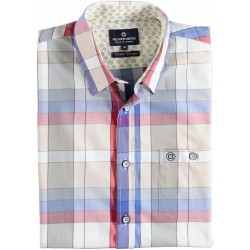 71.6608-185  Shirt S/S Moderne Check red