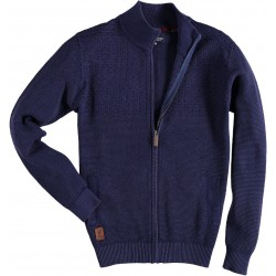 72.1139-110  Cardigan SolidFancy Stitched navy