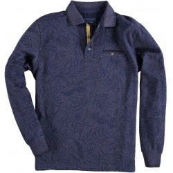 72.2108-110  Sweater Rugby Print navy