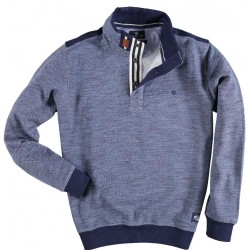 72.2631-112  Sweater Rugbycollar blue