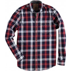 72.6532-185  Shirt L/S check red