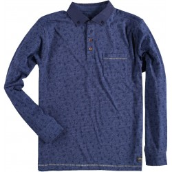 72.2110-110  Sweater Rugby Indian Print navy